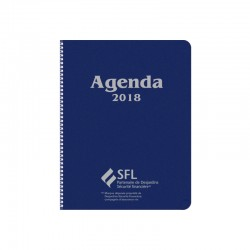 Die for agenda with textured imitation leather and hot stamped cover