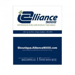 Cartes d'affaires, couleurs, papier standard glacé C1C recto-verso