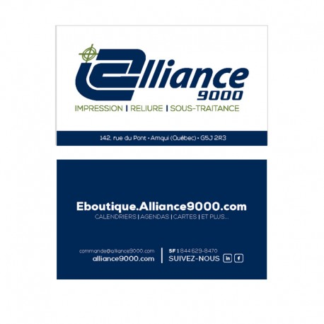Business card, colors printing two-sided, standard paper, coated on  single-sided (C1S)