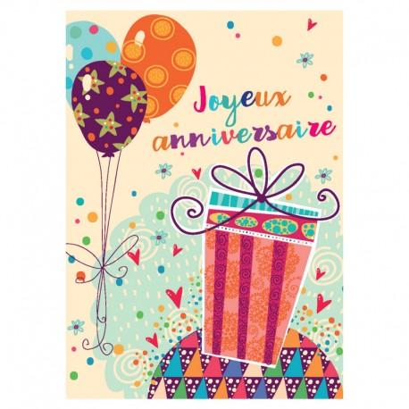 20 cartes Ballon, votre texte et logo - 5'' x 7'' - Français