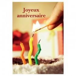 Chandelles sur un gâteau, cartes personnalisables, français