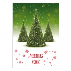Christmas Greeting Card - Customized - Pack of 50 - 5 '' x 7 '' - French
