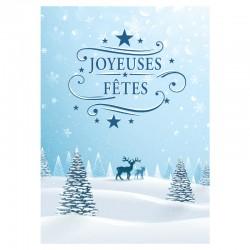 50 cartes de voeux - Chevreuil - 5'' x 7'' - Français