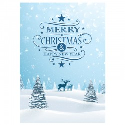 Deer in the snow, Custom, English, pack or 50 cards
