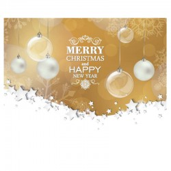 50 Personalized greeting cards - Golden ornements - English