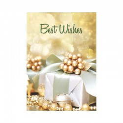 50 Happy Holidays Cards, Customizable, Golden gift - English