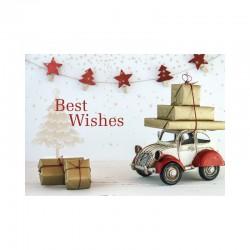 50 cartes de Noël, Voiture vintage, Joyeuses fêtes, Anglais