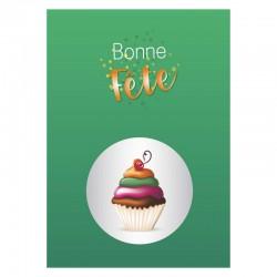 Petit gâteau vert, 50 cartes personnalisables, français