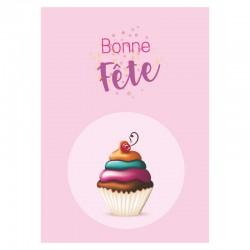 Cupcake Birthday Cards, Customizable - 5'' x 7 '' - French