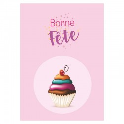 Pink Cupcake, Customizable, French