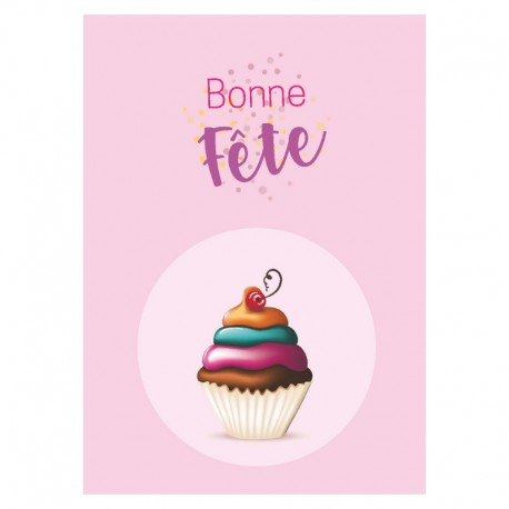 Staged Cake Birthday Cards, Customizable - 5'' x 7 '' - French