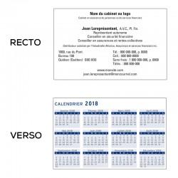 Calendrier de poche - Français - Paquet de 250