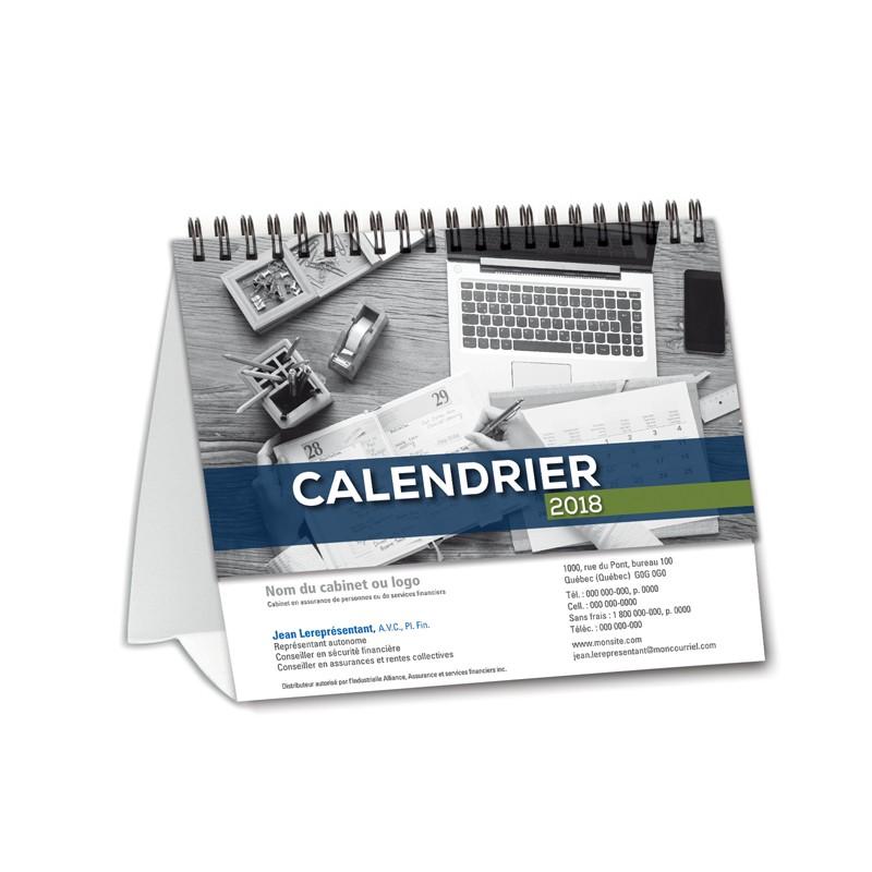 calendrier de bureau classique en fran ais pour votre visibilit imprim et fabriqu par. Black Bedroom Furniture Sets. Home Design Ideas