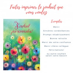 20 cartes de souhait personnalisables - Fleurs