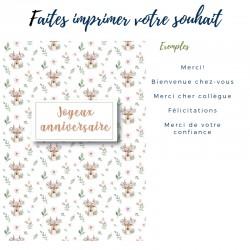 Cartes d'anniversaire, Chevreuil mosaïque, personnalisable, 5'' x 7'' - Français