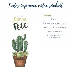 Cartes de souhait personnalisables, Cactus, 5'' x 7''
