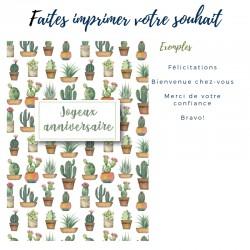 Cartes de souhait personnalisables, Succulentes, 5'' x 7''