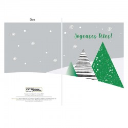 50 Customizable Christmas Cards, Green Fir, French