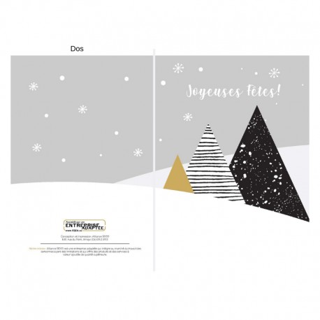 3 trees in black, customizable, french