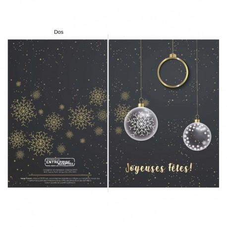 Boules de Noël en noir et doré