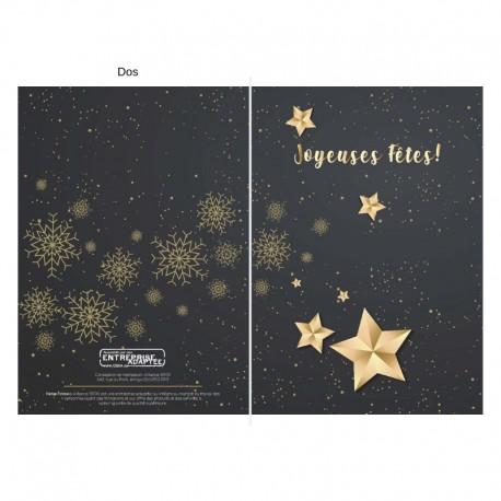 Golden stars, customizable, french