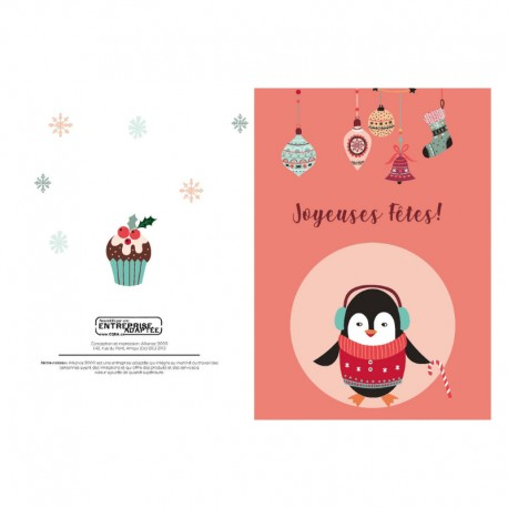 Penguin, customizable, french