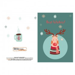 Red-nosed Reindeer, personnalisable, anglais