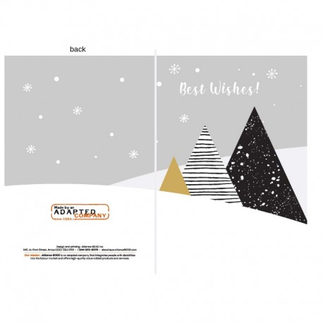 3 trees in black and gold, personnalisable, anglais