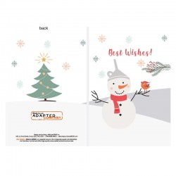 Snowmen, personnalisable, anglais