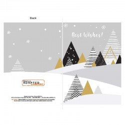 Trees in black and gold, customizable, English, pack of 50