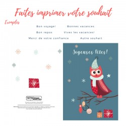 Holiday wish, Owl, customizable
