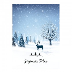 Christmas Greeting Card - Customized - Pack of 24 - 5 '' x 7 '' - French