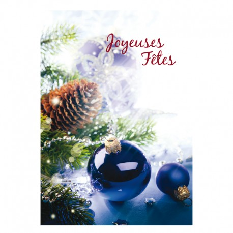 Christmas Greeting Card - Without text - Pack of 16 - 5 '' x 7 '' - French