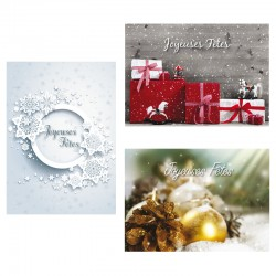 Set of Christmas Cards - Pack of 12 - Without Text - 5 '' x 7 '' - French