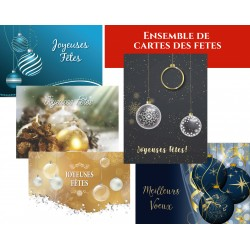 Package Ornements, 50 customizable Holiday greeting cards, french