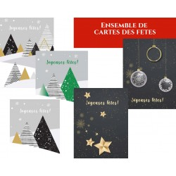 Package Classic, customizable Holiday greeting cards, with text french