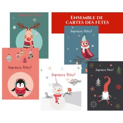 Package Happy, 50 customizable Holiday greeting cards, french