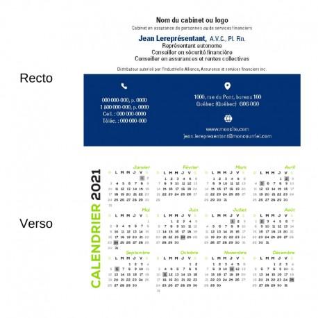 Customizable 2021 pocket calendars FRENCH