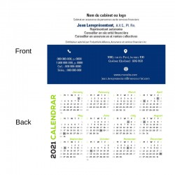 Customizable 2021 pocket calendars
