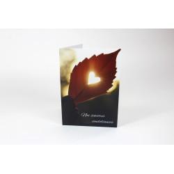 Condoléances, Coeur, cartes de souhait personnalisables