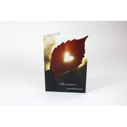 Heart in a leaf, Customizable wish cards