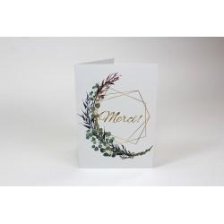 Merci, Branches avec du dorée, cartes de souhait personnalisables