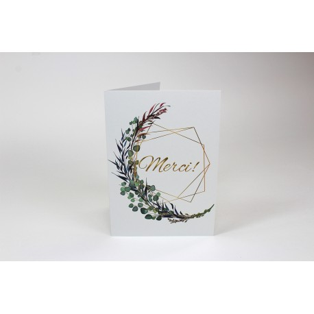Thank you, Branches with gold, customizable greeting cards