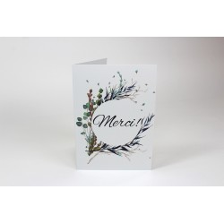 Thank you, Branches with black, customizable greeting cards