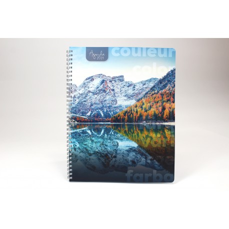 Name printing on cover, Agenda 2021 French, 8.5 '' x 11 '', Landscape series