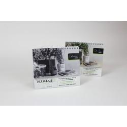 2021 Desk Calendars BILINGUAL, Customizable, Professional Classic Model, Monochrome image