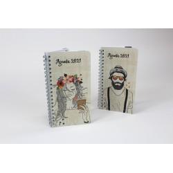Customizable, French agenda 2021, 8.5 '' x 11 '', Drawing series