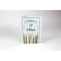 Chandelles, cartes personnalisables, français