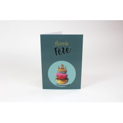 Birthday Cards, Green cake
