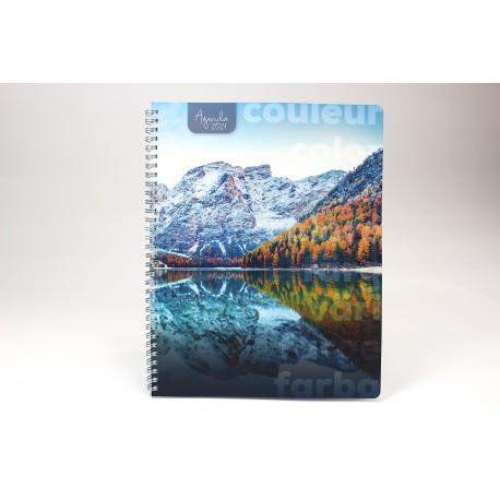 Name on cover, BILINGUAL, 2021 Desk Agenda, 6.5''x9 '', Landscape series